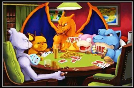Otro Otaku On Twitter Perros Jugando Al Poker O Pokemons Jugando