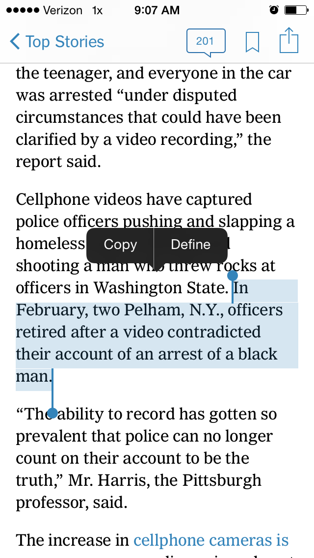 Police officers *retired.* That's my hometown.