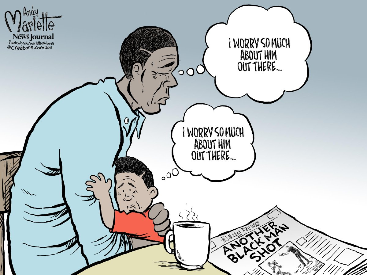 Andy Marlette On Twitter New Cartoon Father And Son Walterscott Blackinamerica Http T Co P1dojo7uka