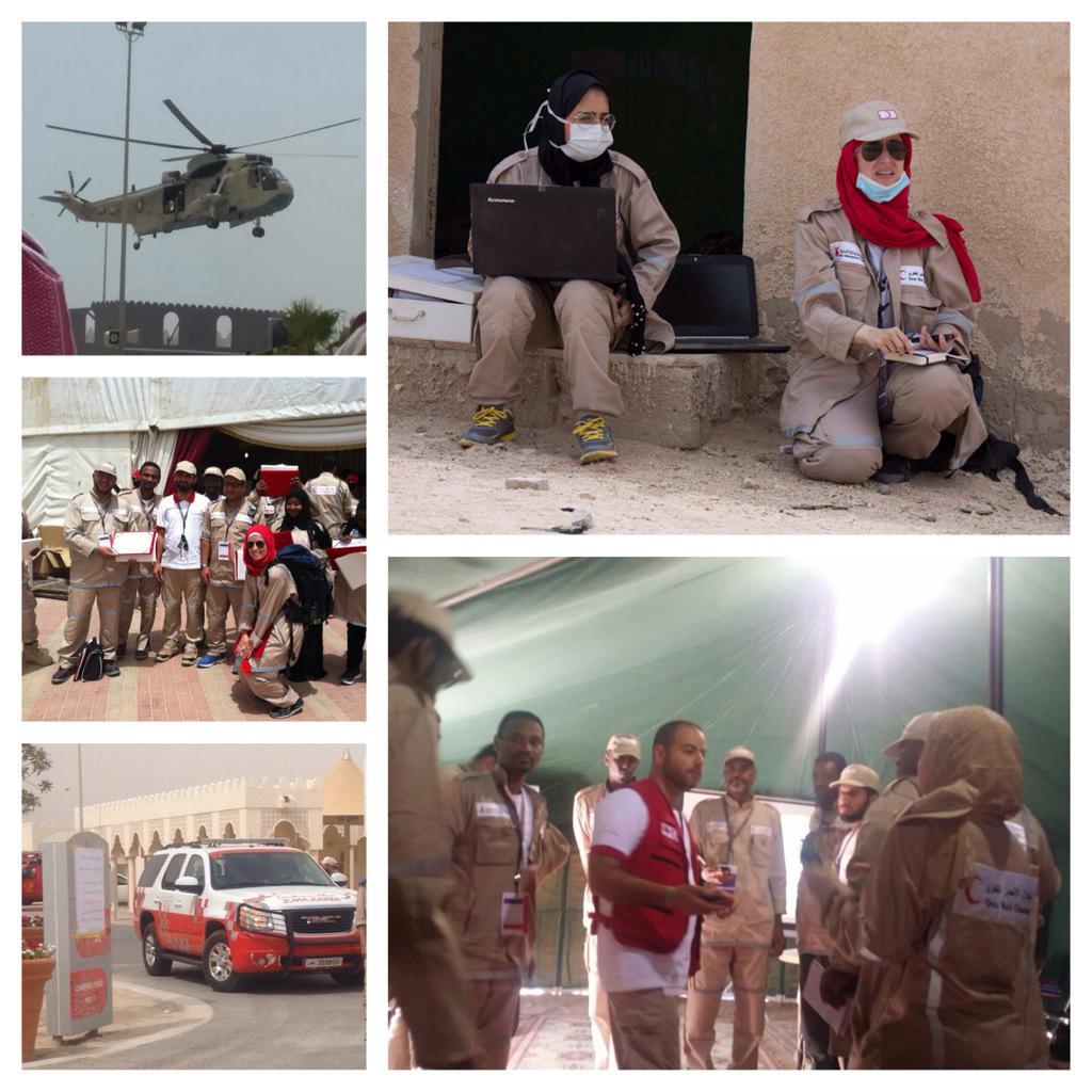 """بالإضافة للمعرفة والتدريب والتمرين، """"وجعلناكم شعوبا وقبائل لتعارفوا"""" شكرا الهلال الأحمر القطري @QRCS #مخيم_الكوارث6 http://t.co/AhwxtaKR8U"""