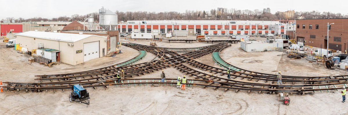 When rebuilding intersections, like Spadina-College, crews assemble track, then dissassemble & transport to the site http://t.co/cfemIk9MuG