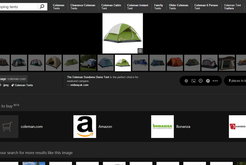 Bing turns its image search into a shopping page