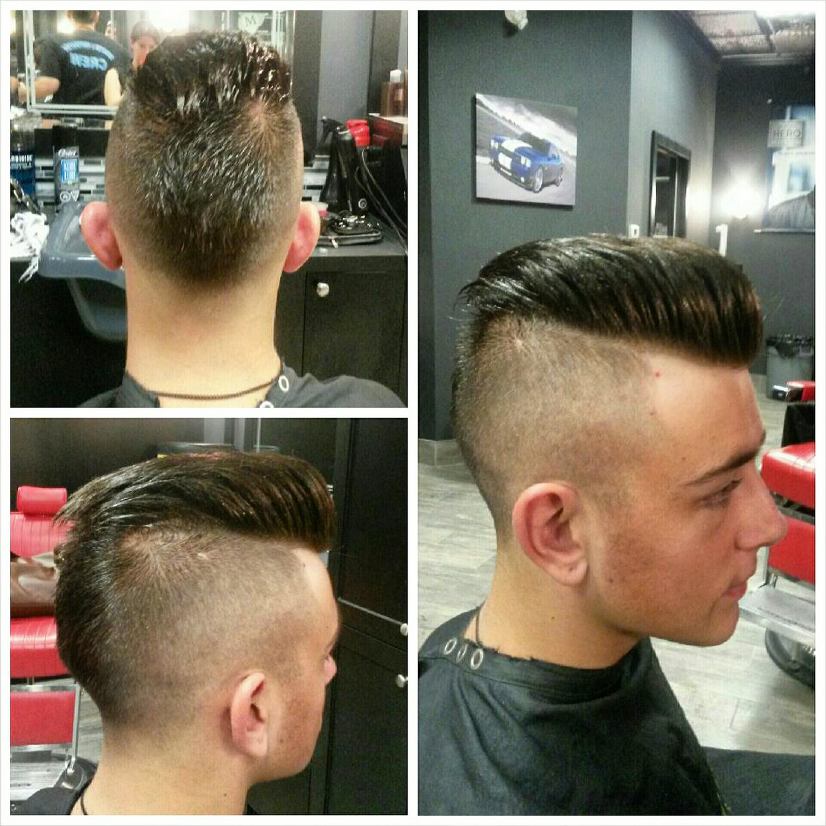 """The Barber Shop on Twitter: """"Skin Fade Mohawk by Connie ..."""