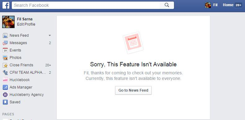 How come pictures on my facebook aren't showing up?