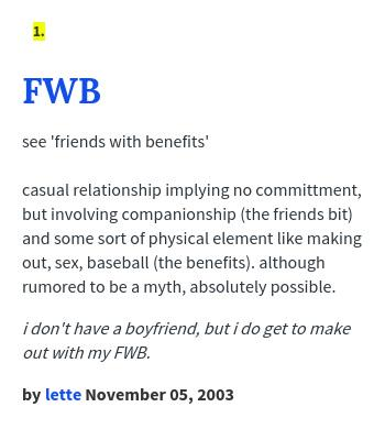 """Urban Dictionary on Twitter: """"@hayleycella FWB: see 'friends with ..."""