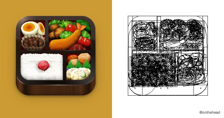 昔作った iOS App アイコン。元絵がないものをゼロから描くのが大変だった...  #イラレマンアウトライン大会 http://t.co/tnU4ECIUYI