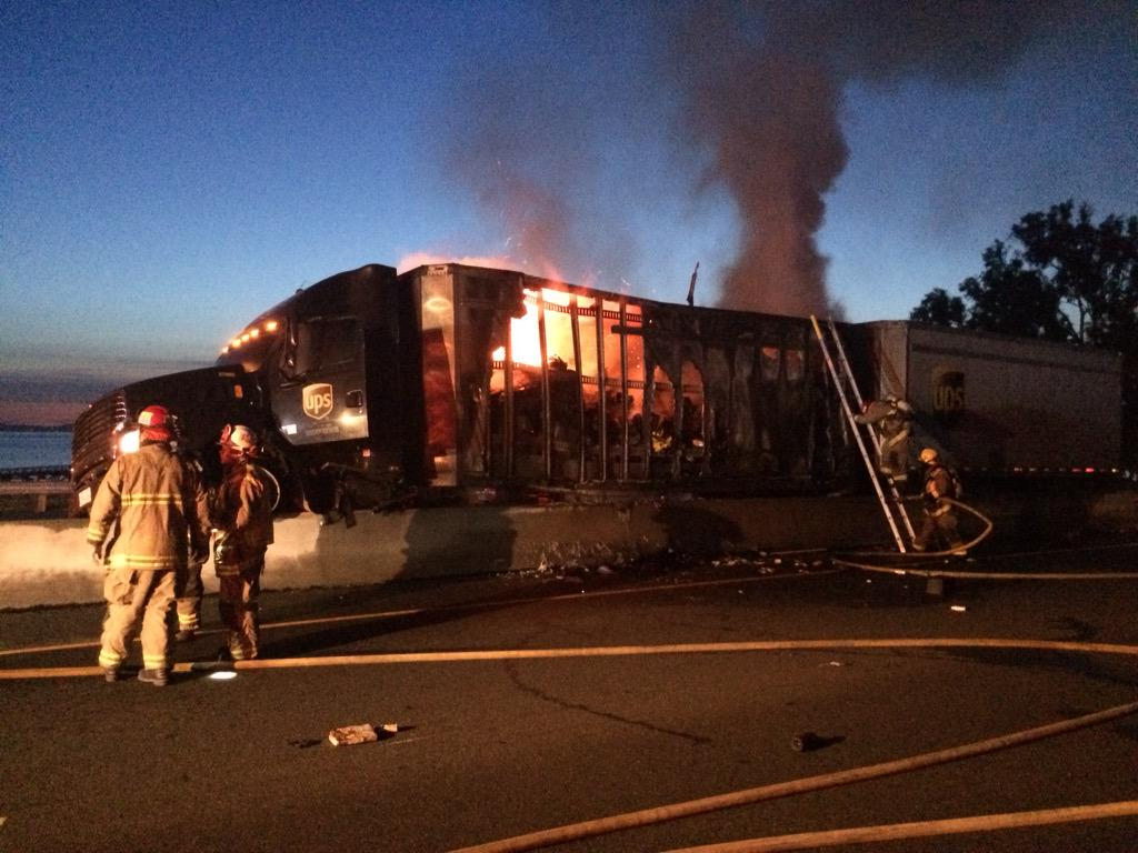 Big Rig Fire Forced I-580 Shut Down in San Rafael