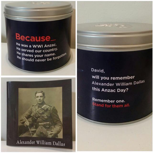 Hey @ANZ_NZ thanks for the cookies. Dont think u realise, but the Anzac u paired me with IS my grandfather. Crazy http://t.co/2fQoI3ZPP2