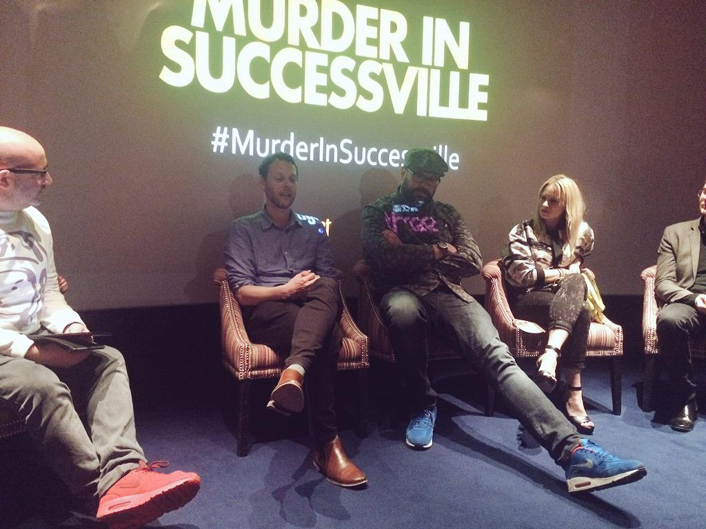 RT @TigerAspectUK: Q&A panel with the producers of #MurderInSuccessville, and the wonderful @BigTomD and @KimberlyKWyatt http://t.co/2RZs9E…