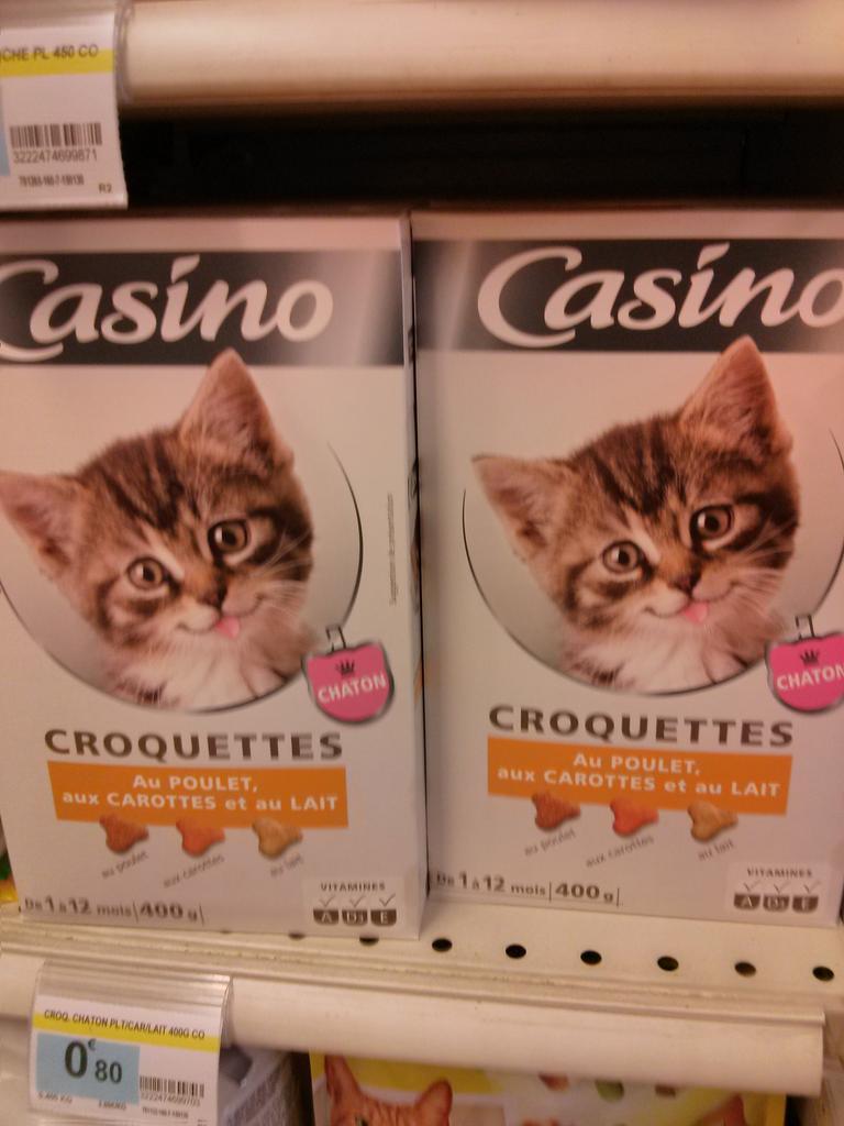 Les croquettes qui donnent envie d'avoir un chat. À quand des positions du kamasutra sur les boites de préservatifs ?
