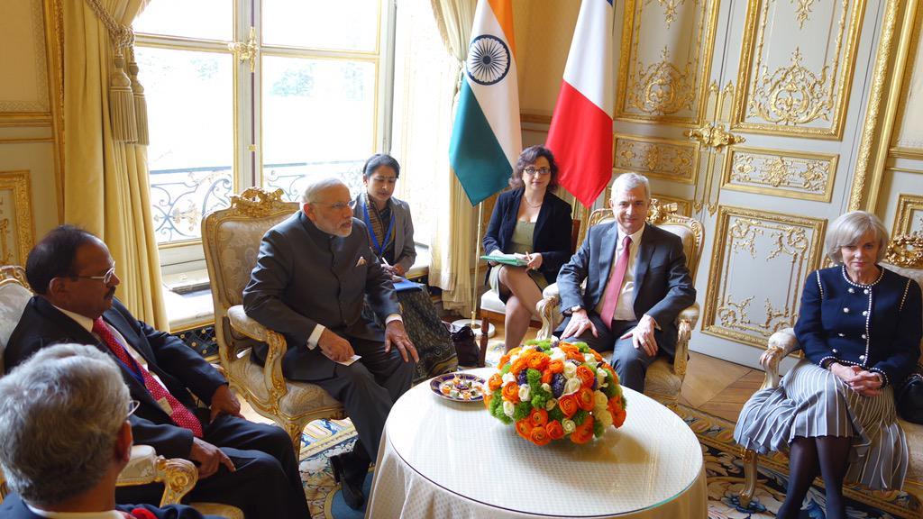 Entretien avec @narendramodi, Premier Ministre de la République de l'Inde. #DirectAN #Diplomatie