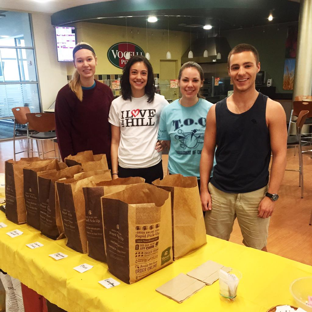 Panera, coffee, and OJ for free! What a beautiful morning to be #d3 #CCD3week #creamcheese http://t.co/KudrZTEt5c