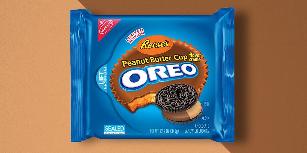 Reese's Peanut Butter Cup flavored Oreo Cookies are back for a limited time. Find them in stores now! http://t.co/tLhxH2Urtl
