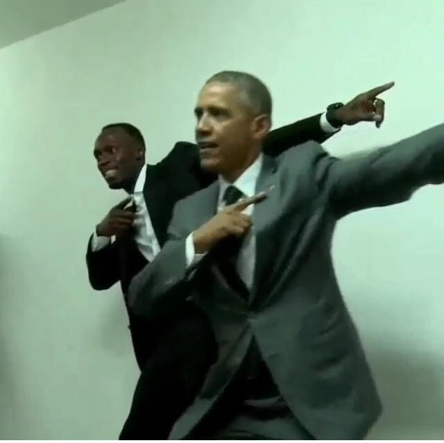 To di worl' wi seh! President Obama did well enough to capture the @usainbolt pose #ObamainJamaica http://t.co/g9UaB2PDzH