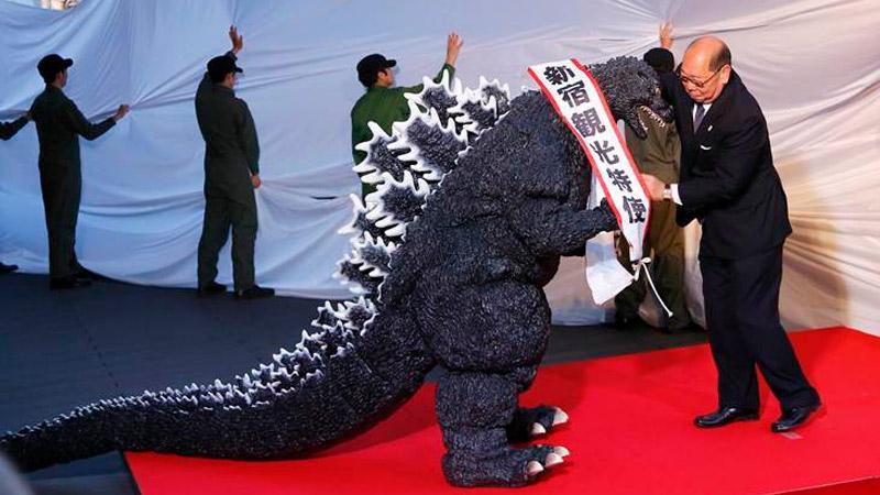 Godzilla ciudadano ilustre de Tokio y embajador de turismo