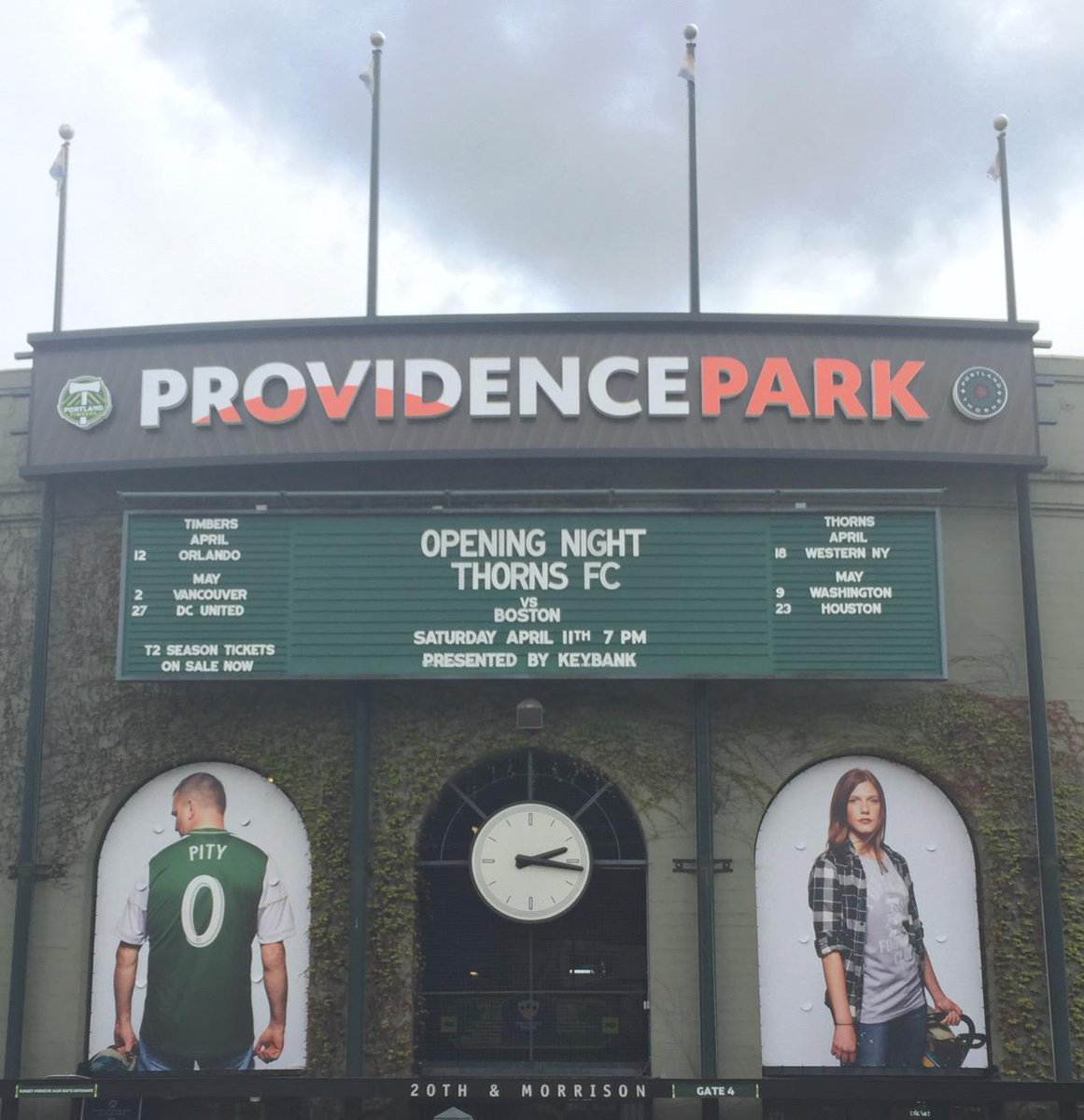 Our turn! @NWSL Opening Night!!! @ThornsFC #Portland #Thorns #PDX #BAONPDX #Thorns #NWSL #RoseCity http://t.co/PYwSRg83HO