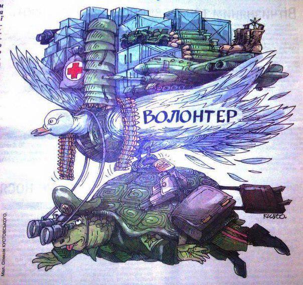 В Киеве подожгли волонтерский пункт по сбору помощи бойцам АТО - Цензор.НЕТ 1445