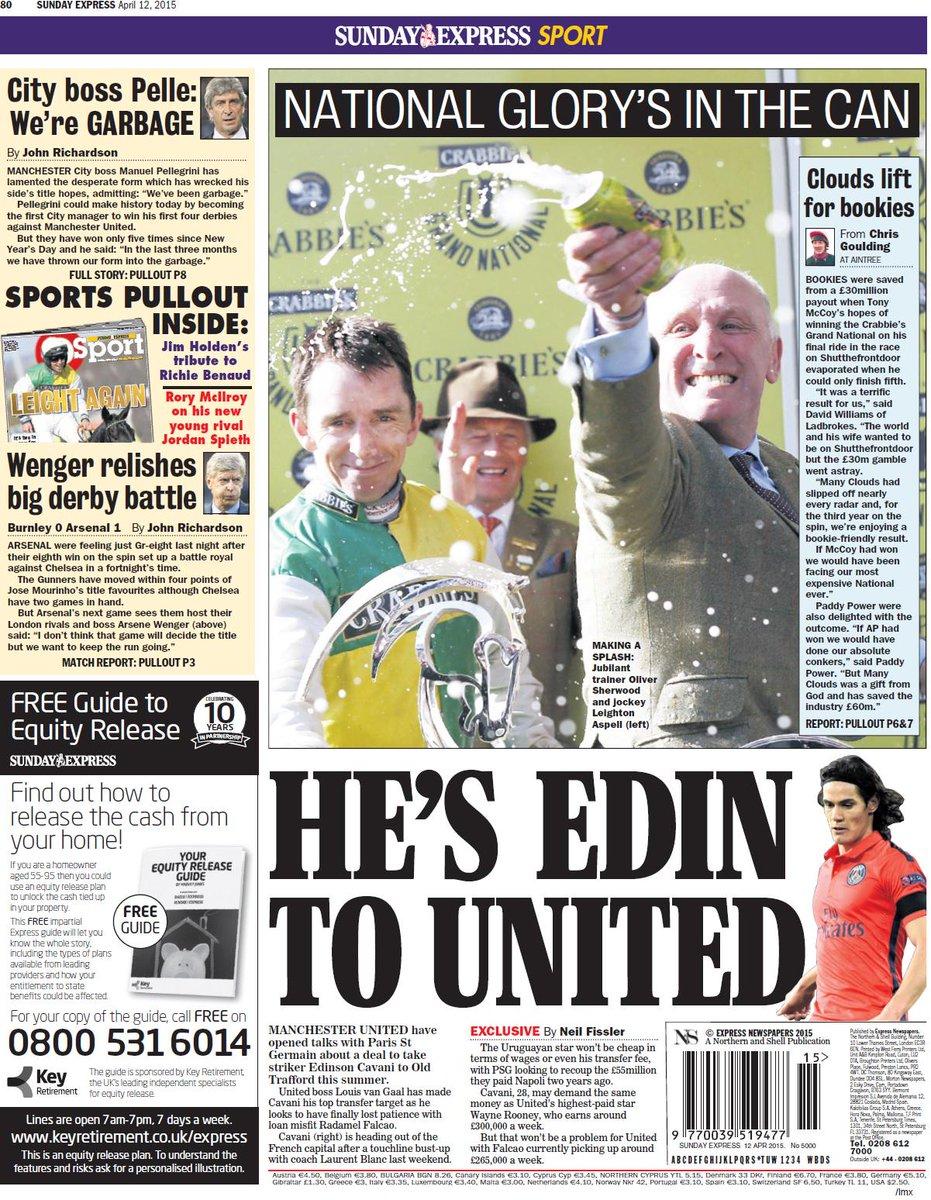 CCVuqnyW0AAMrzu Man United have opened talks with PSG striker Edinson Cavani [Sunday Express]