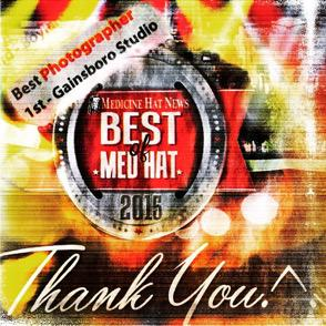 Thanks😃2 ALL our clients & supporters who voted #GAINSBOROSTUDIO ( #JoanBateman )  #BESTPHOTGRAPHER #Bestofmedhat ‼️ http://t.co/tdwGqhYk7c