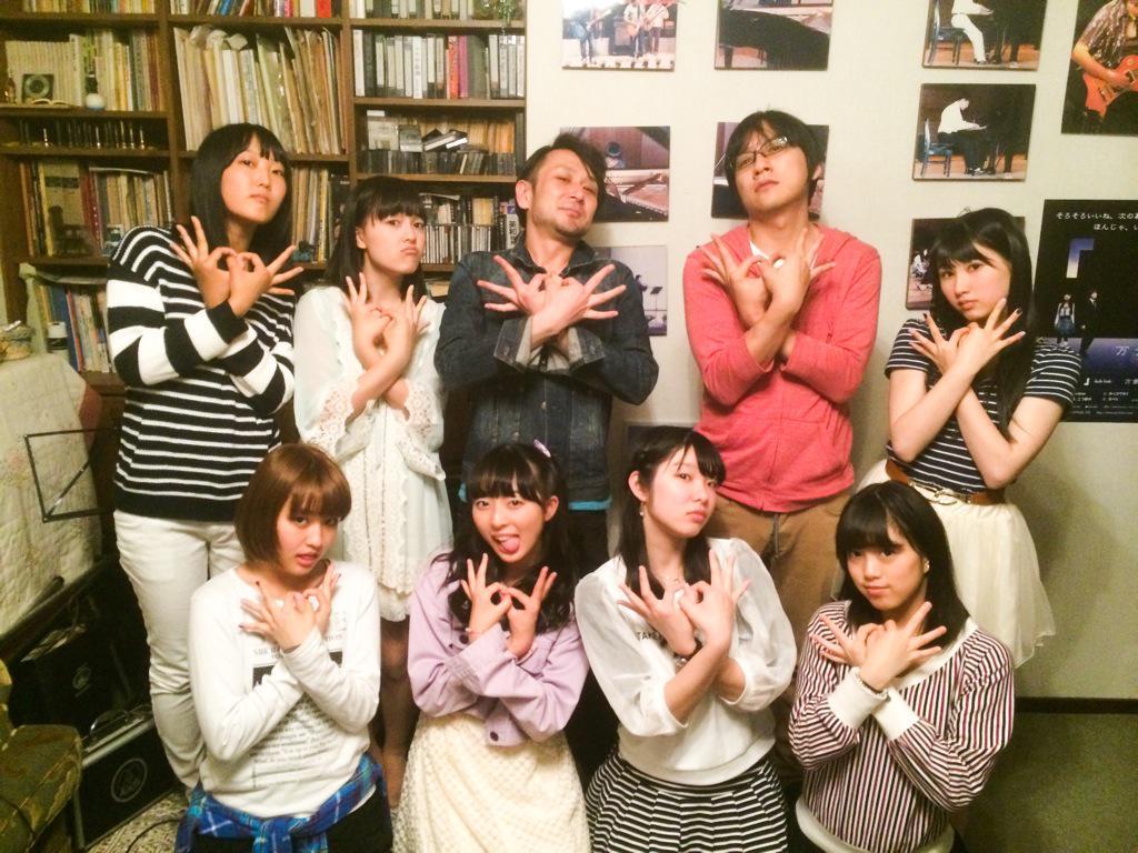"""昨日は広島にて、アイドルグループ""""SPL∞ASH""""の新曲レコーディングでした!めっちゃカッコ良い曲に仕上がりそう! お疲れ様でしたーーー! http://t.co/zecJEO13r6"""