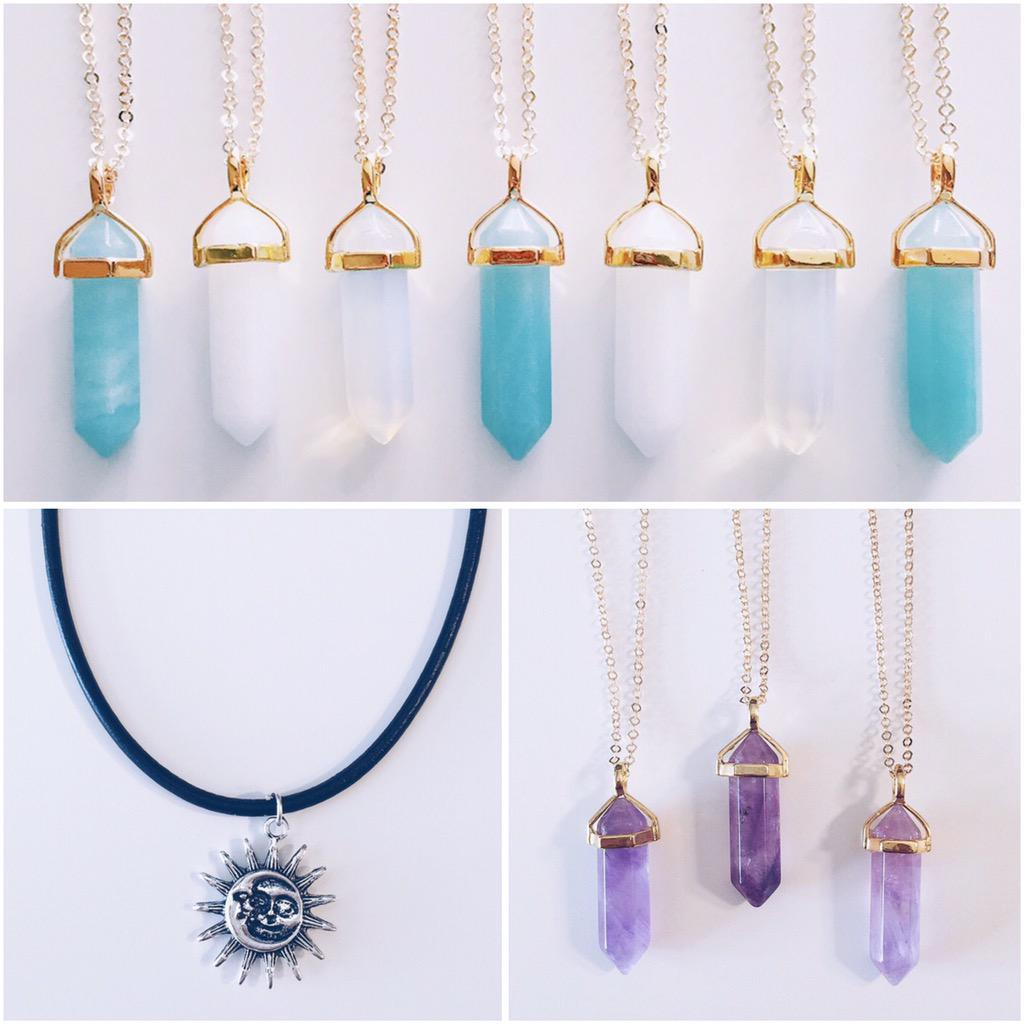stargaze jewelry on twitter healing crystal necklaces