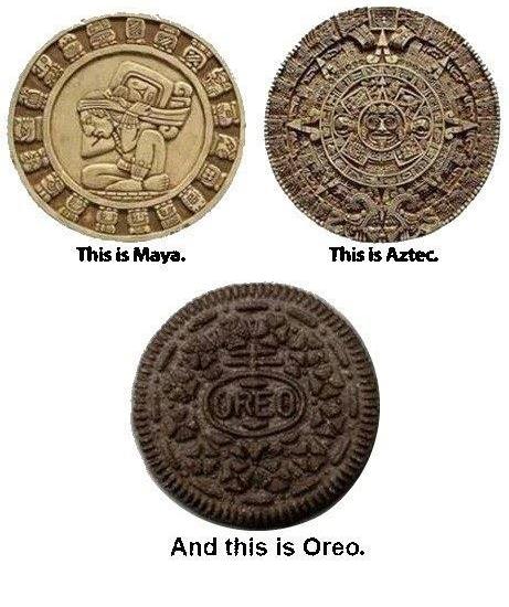 左上からマヤ文明、アステカ文明、オレオ文明です pic.twitter.com/C33aX8v6Ww