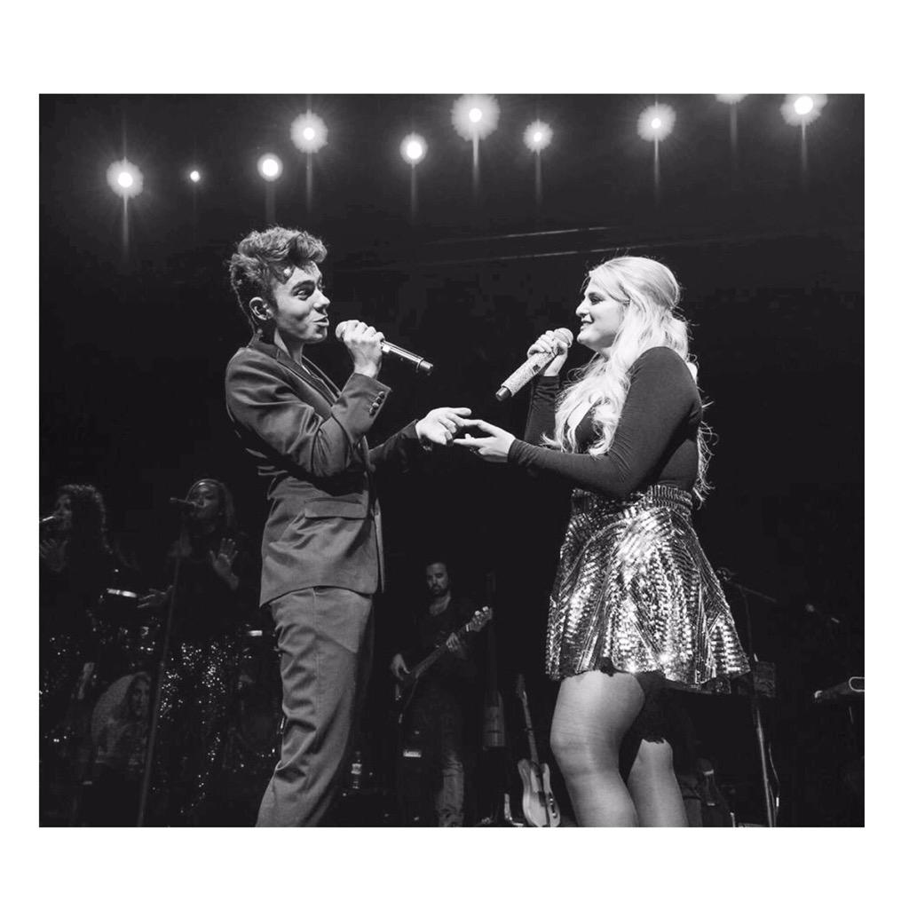 "So much fun on stage with @Meghan_Trainor after my gig in Birmingham last night singing ""Like I'm Gonna Lose You"" 🎶❤️ http://t.co/7zVZuRwKph"