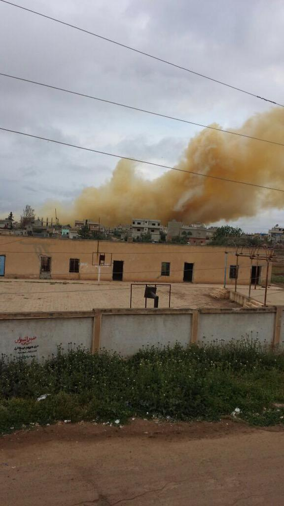 Gas clorino su Deraa