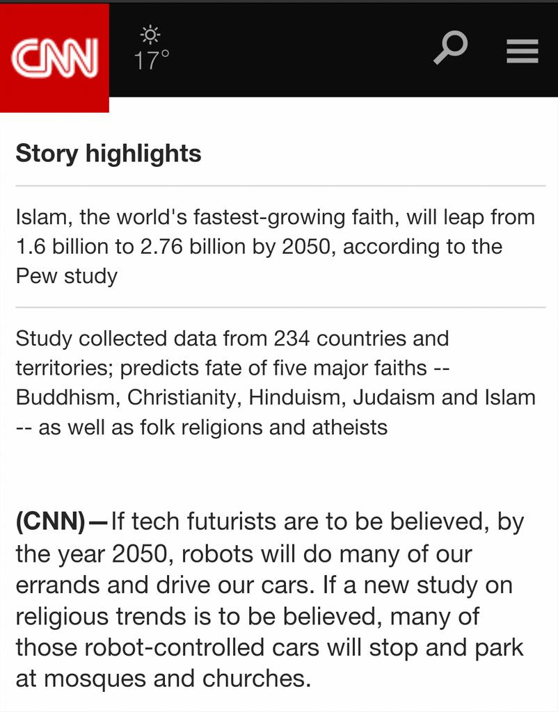 The fastest growing faith in the World is..