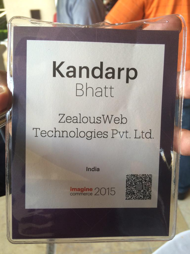 kandarp: sounds like it's good idea to register for #imaginecommerce today itself if you are at #preimagine @ZealousWeb http://t.co/Y7dXznmxyH