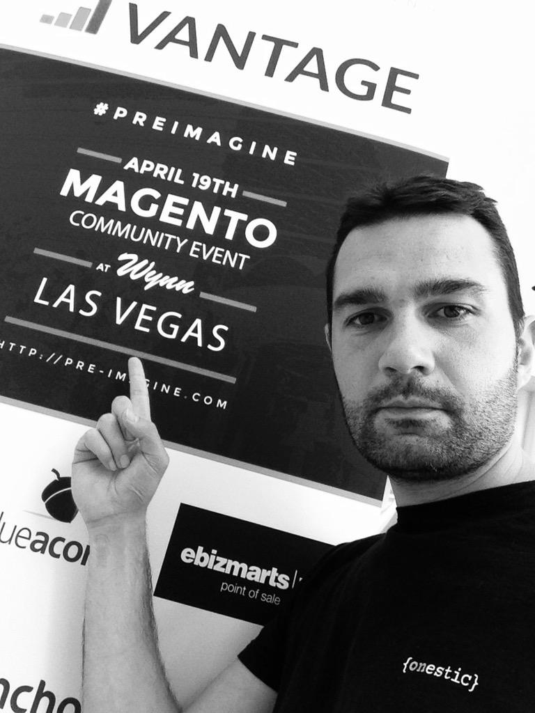 sbaixauli: @Magento #ImagineEcommerce #PreImagine @onestic here we are! http://t.co/LLcEVsK6P3