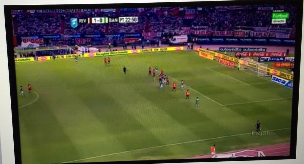Noche de futbol viendo a mi querido River Plate!!