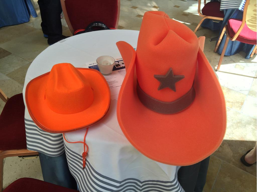 JoshuaSWarren: Can't find me at #preimagine and want to learn more about @creatuity and @MageLaunchpad? Look for orange cowboy hats! http://t.co/agoNRahrEq