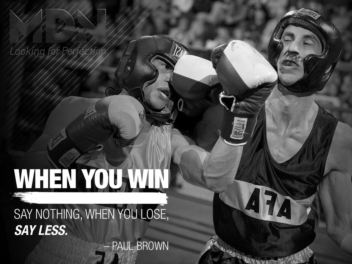 Para ganar hay que saber perder. #TrainingSystem #Motivation