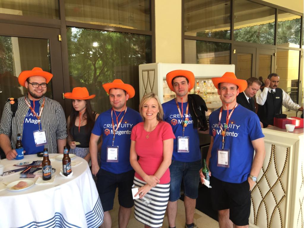JoshuaSWarren: OH at #imaginecommerce #preimagine - @Creatuity, they're the Magento cowboys! #realmagento http://t.co/ecwAlGjCAM