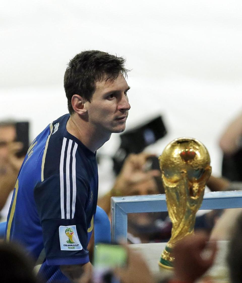 Messi nearky with the WorldCup