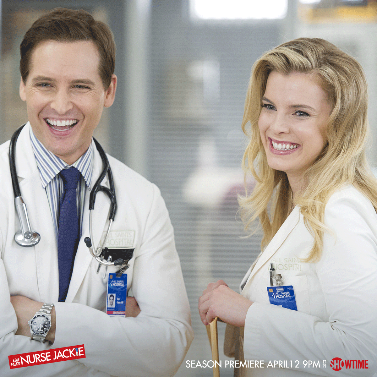 Just a few more hours until all these beautiful faces are back at All Saints, TONIGHT at 9PM ET/PT! #NurseJackie http://t.co/iXWMFWQtDR
