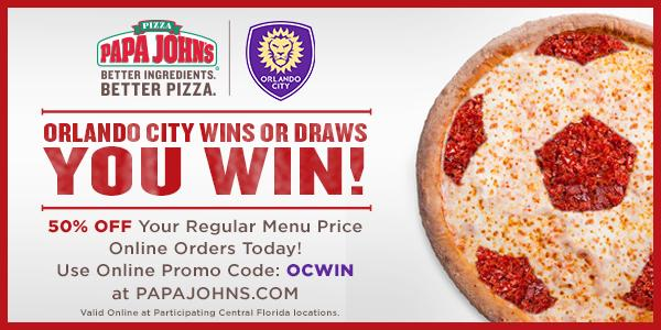 image regarding Papa Johns Printable Coupons named Orlando Town SC upon Twitter: \