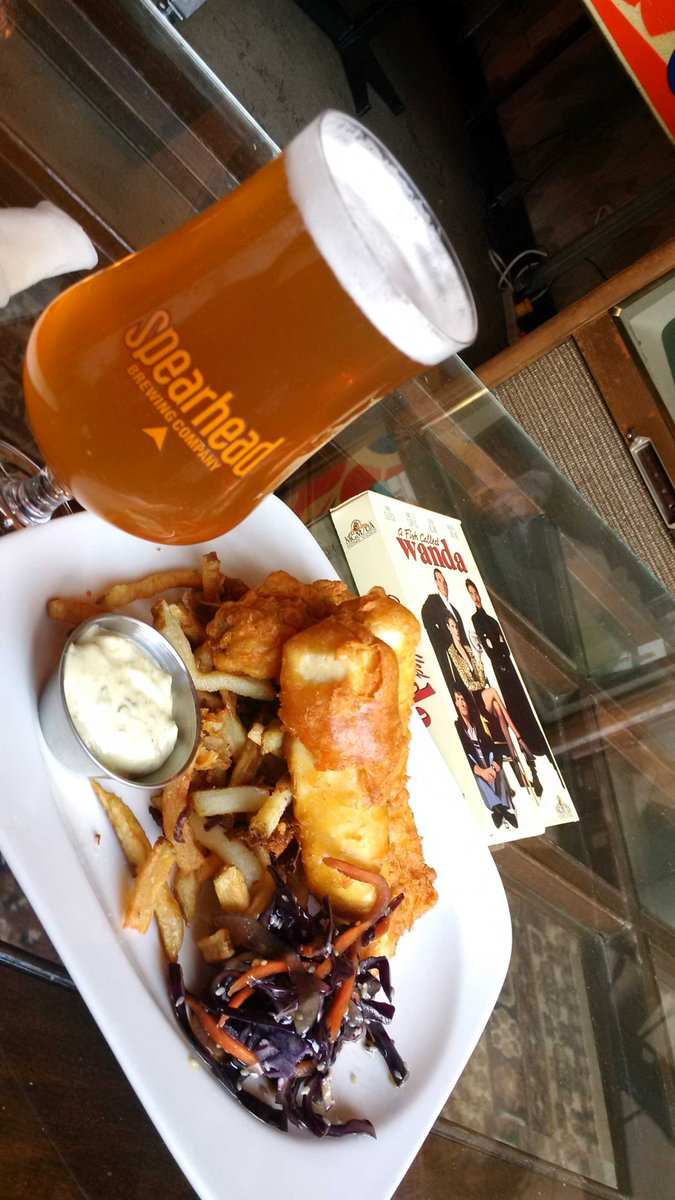 More like A Fish Called Awesome! @SpearheadBeer India White and new Fish N Chips movie night in #JunctionTO! http://t.co/QwfWmfJGeC
