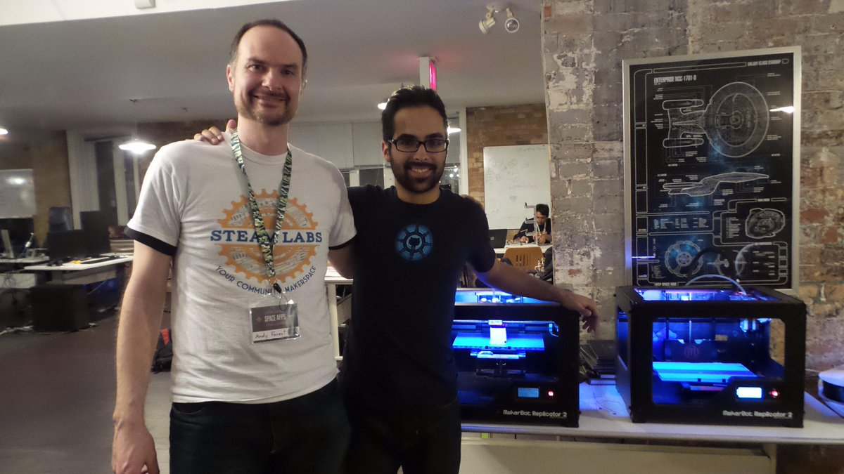 THANKS @jamescosta for being the @SpaceAppsTO Master of the Universe! We had such a great time! @phuseca #spaceapps http://t.co/jNVoS9NHOH