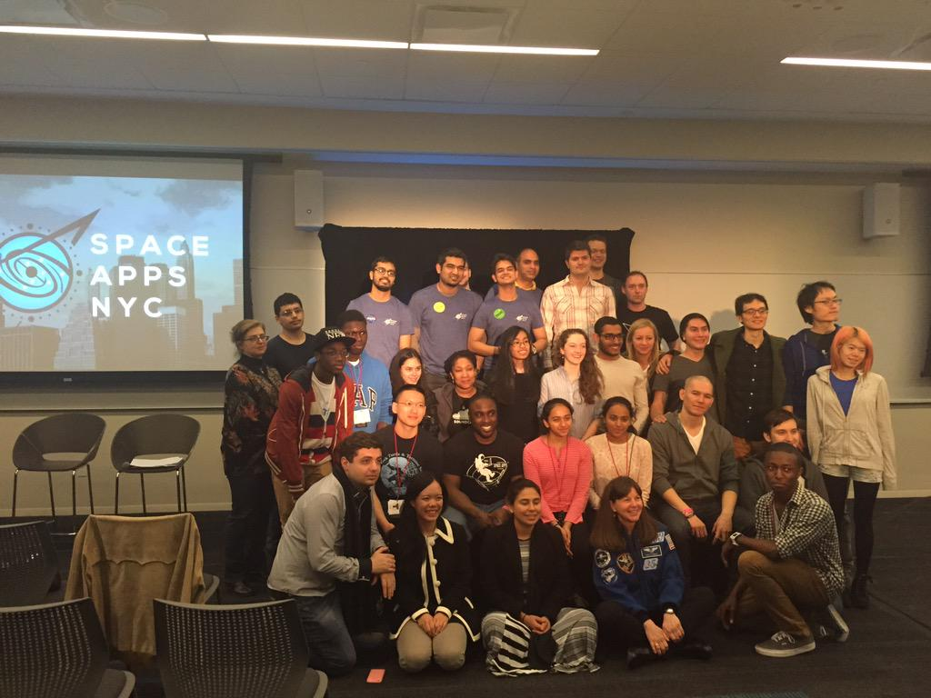Congrats to all the #spaceappsnyc winners! #spaceapps #buildthefuture http://t.co/s2ahgPDmVz