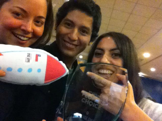 second place people choice!!!  #spaceApps #chile http://t.co/CAU42HFi0L