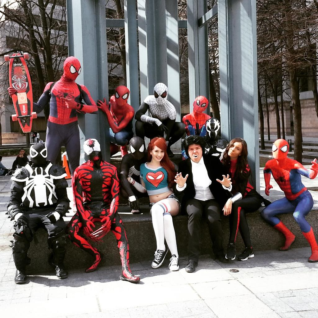 Spider-Verse in real life today http://t.co/M53QJmqSpe