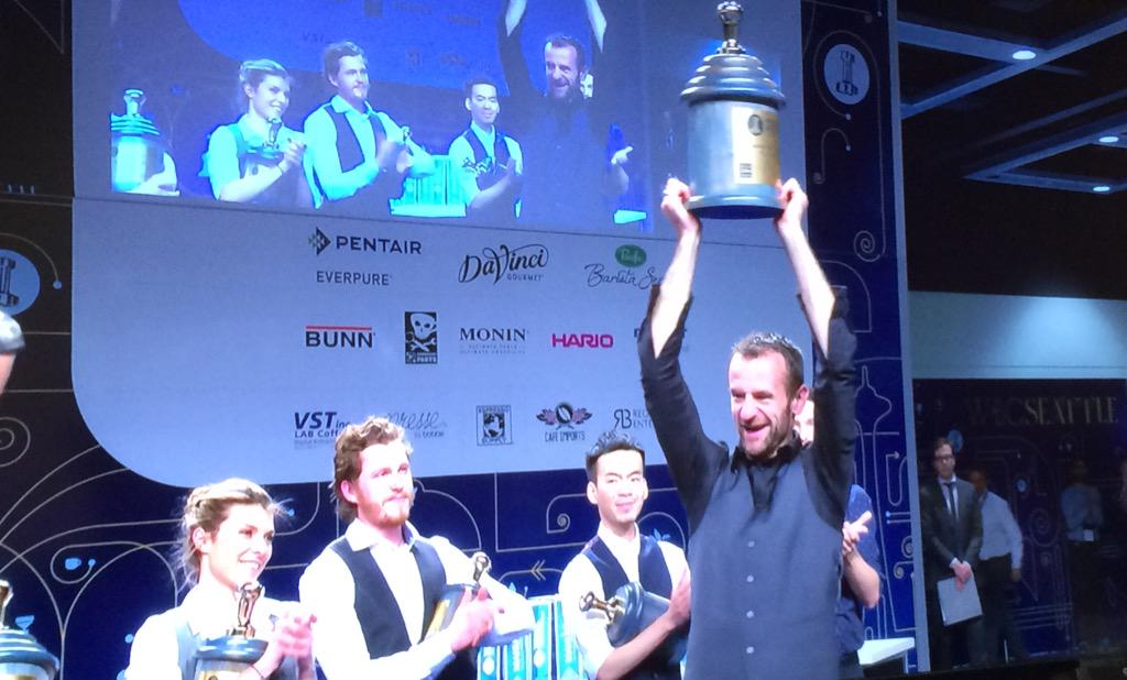 The new World Barista Champion for 2015 is Sasa Sestic from Australia! @SasaSestic #WBC2015 @WCoffeeEvents #REPRASENT http://t.co/rqKZlYzE5R