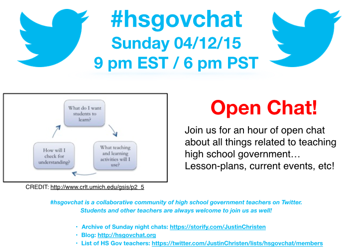 Thumbnail for #hsgovchat (04/12/15): Open Chat