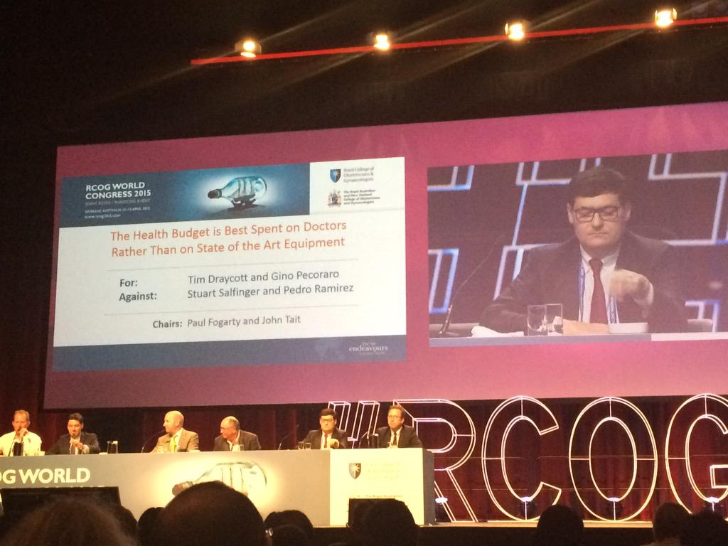 "Tim Draycott's #justsayin' and Gino ""this doesn't just happen"" Pecoraro-spend more money on doctors #RCOG2015 http://t.co/n1qQjOx7Zs"