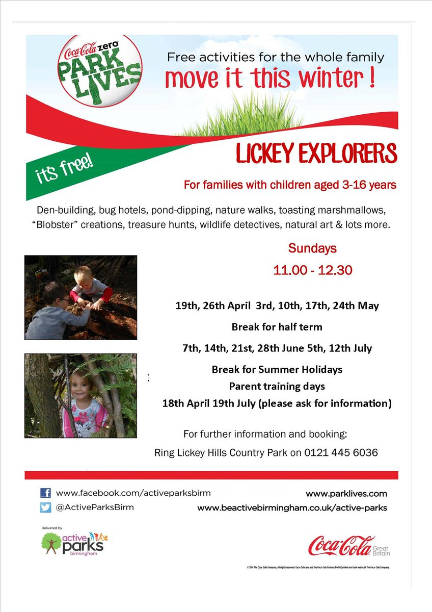 "Lickey Hills on Twitter: ""Kids Book your Mom and Dad on to this ..."
