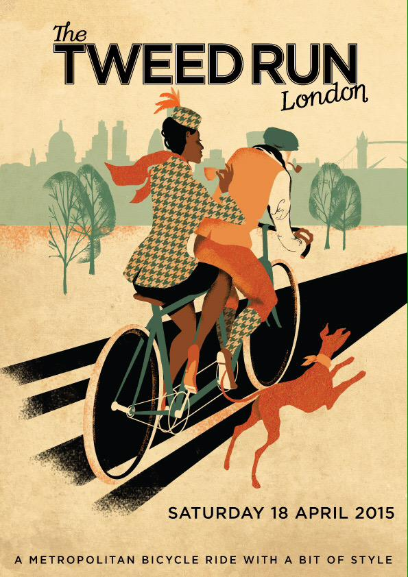 our beautiful poster for this year's tweed run, by the incredibly talented @ElizaSouthwood http://t.co/aHA2yq97ux