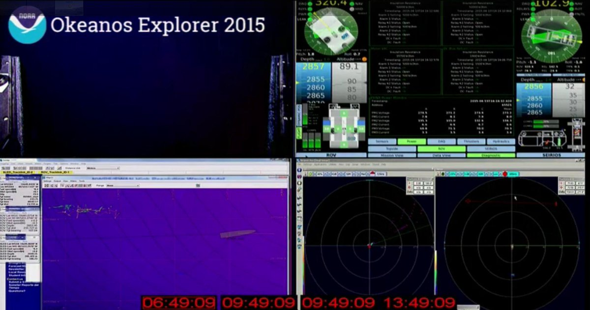 Still diving! #Okeanos 2855 meters on the way to 4000 meters #puertorico http://t.co/4jD94q7Adh