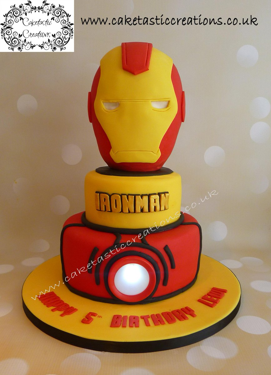 Terrific Caketastic Creations On Twitter Ironman Birthday Cake Ironman Birthday Cards Printable Trancafe Filternl